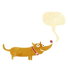 cartoon happy dog with speech bubble vector image