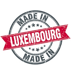 Made in luxembourg red round vintage stamp vector