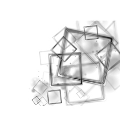 Black glossy squares on white background vector image vector image
