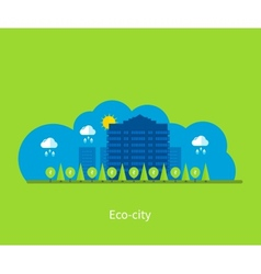 City landscape Environmentally friendly house vector image vector image