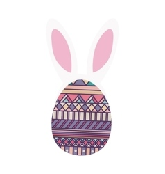 Colorful easter egg design with ears bunny vector
