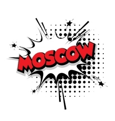 Comic text moscow sound effects pop art vector