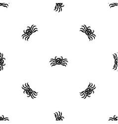 Crab sea animal pattern seamless black vector
