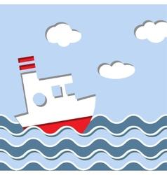 Cruise ship in the ocean vector image vector image