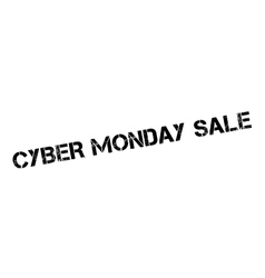 Cyber monday sale rubber stamp vector