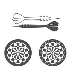 Darts label badge logo vector