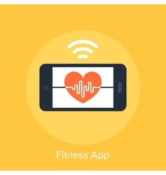 Fitness app vector