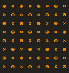 Halloween pattern seamless background with bones vector
