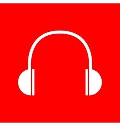 Headphones sign vector image vector image