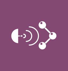 Icon molecule and satellite vector