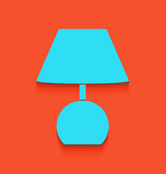 Lamp sign whitish icon on vector