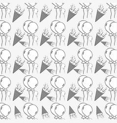 Line background happy birthday celebration pattern vector