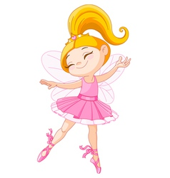 Little fairy ballerina vector
