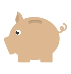 piggy safe money saving design vector image vector image