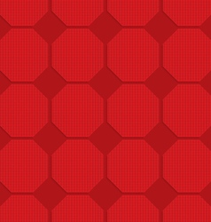 Red checkered octagons vector