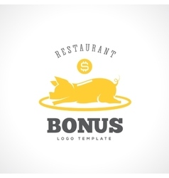 Restaurant bonus abstract label or logo vector