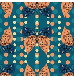 Seamless pattern of decorative butterflies vector image vector image