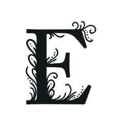 Set of Isolated stylized calligraphic vector image vector image