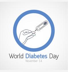 World diabetes day icon vector