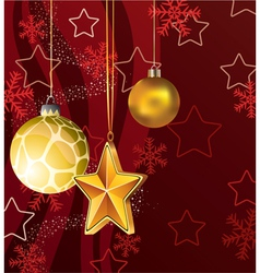 winter holiday decoration vector image