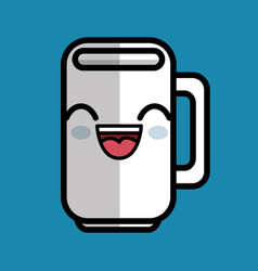 cup coffee character icon vector image