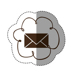 Color cloud services e-mail network icon vector