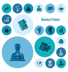 business and finance icon set vector image
