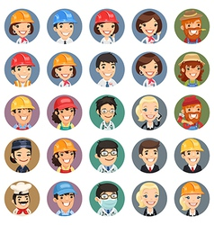 Professions icons set1 1 vector