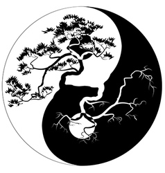 Yin Yang Bonsai vector image