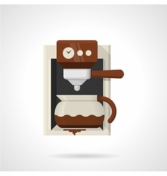Coffee machine flat color icon vector