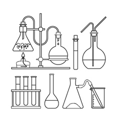 Chemical glassware icon vector