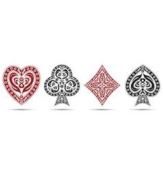 Spades hearts diamonds clubs poker cards symbols vector
