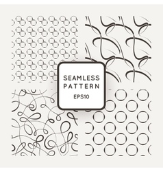 A set of four seamless patterns Curls vector image