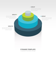 Cylinder infographic template design vector
