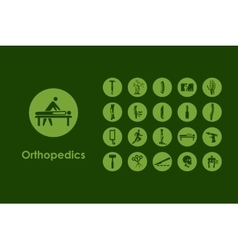 Set of orthopedics simple icons vector