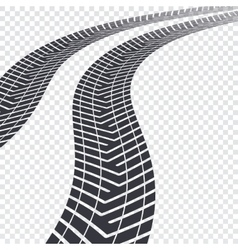 Tire tracks on transparent vector image