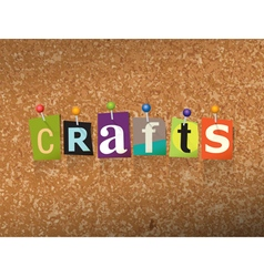 Crafts Concept vector image
