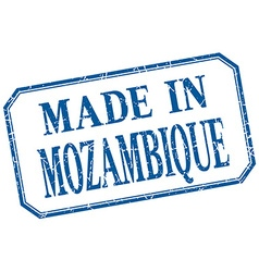 Mozambique - made in blue vintage isolated label vector