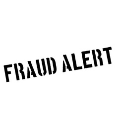 Fraud alert black rubber stamp on white vector