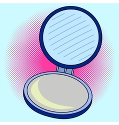 Pocket mirror pop art vector