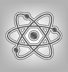 Atom sign pencil sketch vector