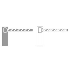 barrier it is black icon vector image