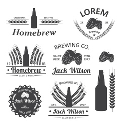 Beer brewery labels vector image