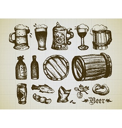beer elements vector image