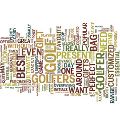 best present for golfers text background word vector image vector image