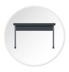 Black desk icon circle vector