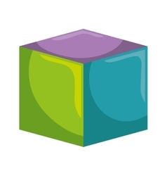 Block toy kid isolated icon vector