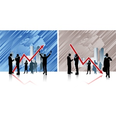 business grafik vector image