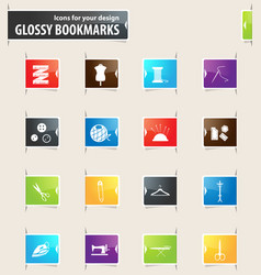 Cleaning company bookmark icons vector