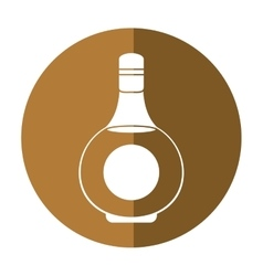 Cognac bottle alcochol drink style shadow vector